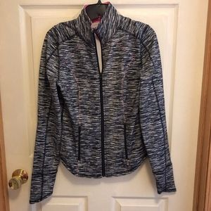 Maurices Grey Heathered Track Jacket, Size Small